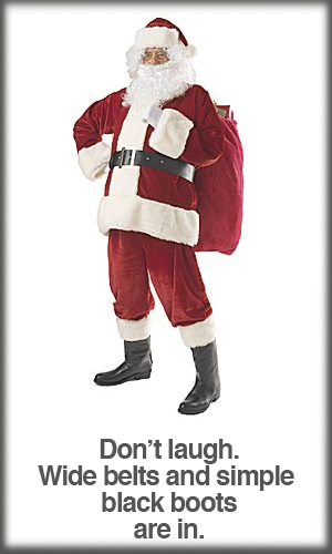 Basic Velveteen 9-Piece Santa Suit
