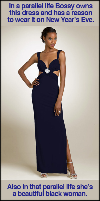 Mary L Couture Jersey Gown With Brooch