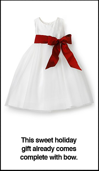 US Angels Toddler Silk & Tulle Dress