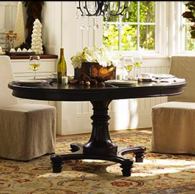 Montego Pedestal Dining Table Alpha Mom