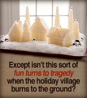 Pottery Barn's Village Candles.