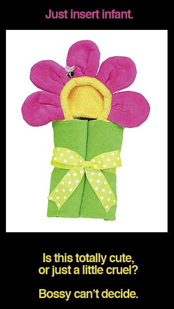 Mullins Infant Flower Tubbie Towel