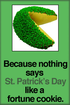 St. Patrick's Day fortune cookie