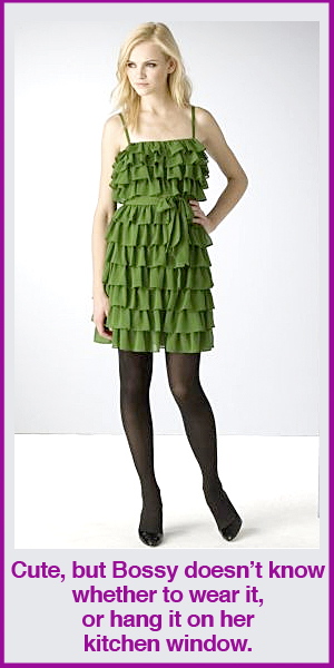 Juicy Couture Cascading Ruffle Waist Dress