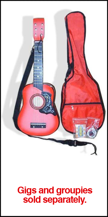 Kid's Toy Guitar w/Carrying Bag