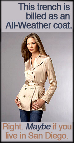 Michael Kors Belted Trench Coat.