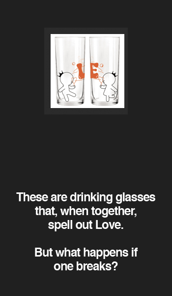 Bubbling With Love Drinking Glasses