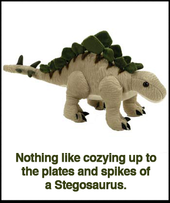 12″ Beige And Green Stegosaurus
