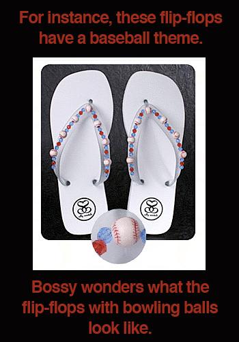 Sports Themed Flip-Flops