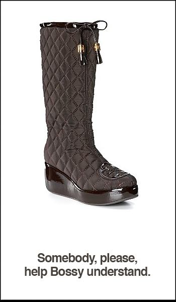 Tory Burch Gigi 2 Quilted Wedge Boots