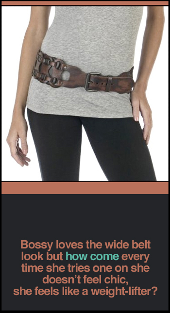 Women's Mossimo Wide Link Belt
