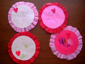 crepe paper valentines