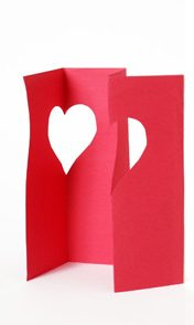 folded paper heart valentine