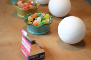 Holiday Crafts for kids Gumdrop Ornaments