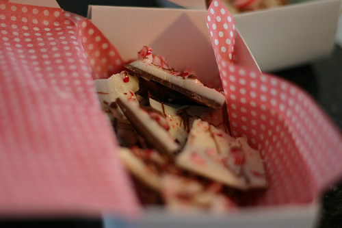 Peppermint Bark in a box