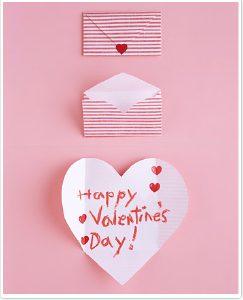 Valentine heart letter