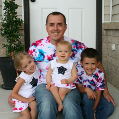 Family wearing Tie Dye Tees