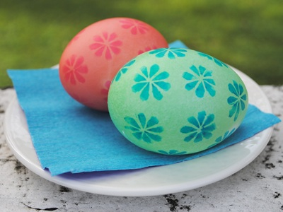 Easter Craft: Rubber Stamped Easter Eggs