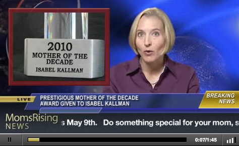 I was named Mother of the Decade: roll the videotape!