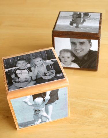 DIY photo cube craft