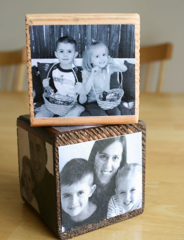 Photo cubes stacked