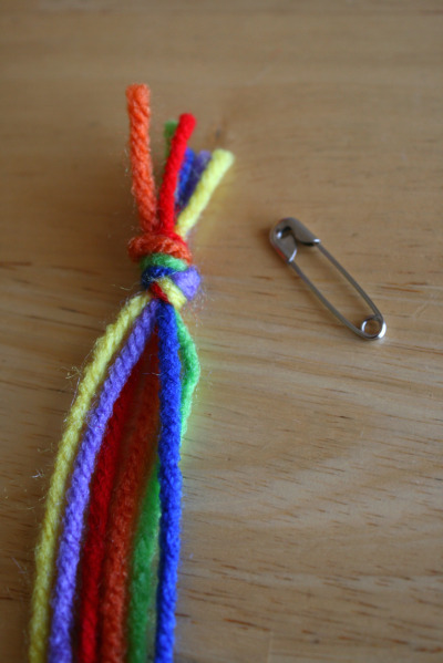 yarn tied in a knot