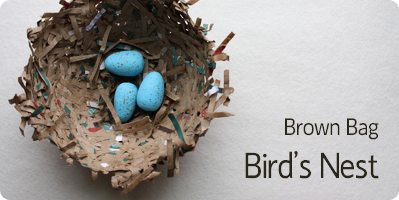 Make a Bird's Nest for Spring