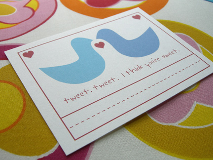 lovebird valentines free printable from The Long Thread