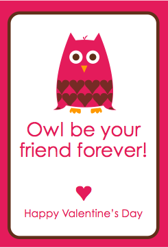 free_printable_valentines_owlpng owl valentine card - Valentines Cards For Friends