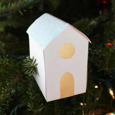 Glitter Paper Houses