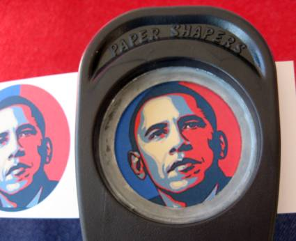 inauguration cupcake toppers circle punch
