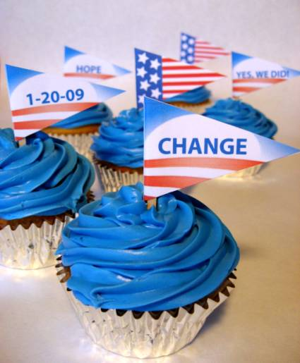 inauguration cupcake topper flags