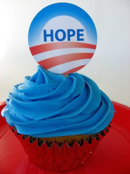 Hope cupcake topper