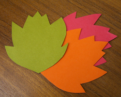 multi-color paper leaves