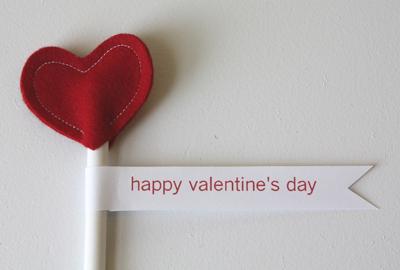 Pencil Felt Heart Valentine