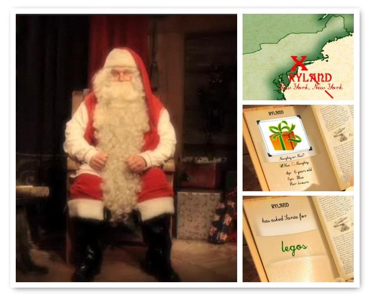 personalized Santa video screenshot