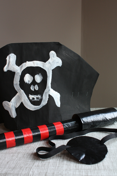 Pirate Crafts & Costume for Talk Like a Pirate Day and Halloween