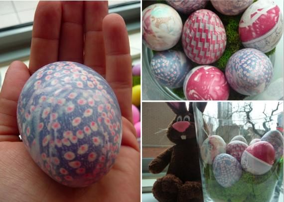 Silk Tie Dye Eggs