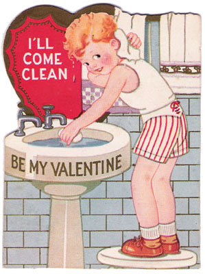 i'll come clean vintage valentine