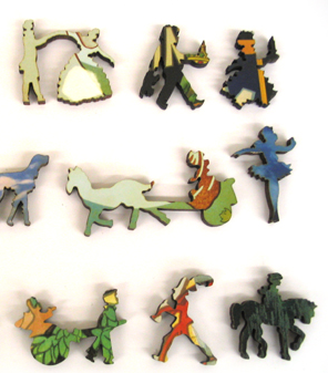 Whimsy puzzle pieces