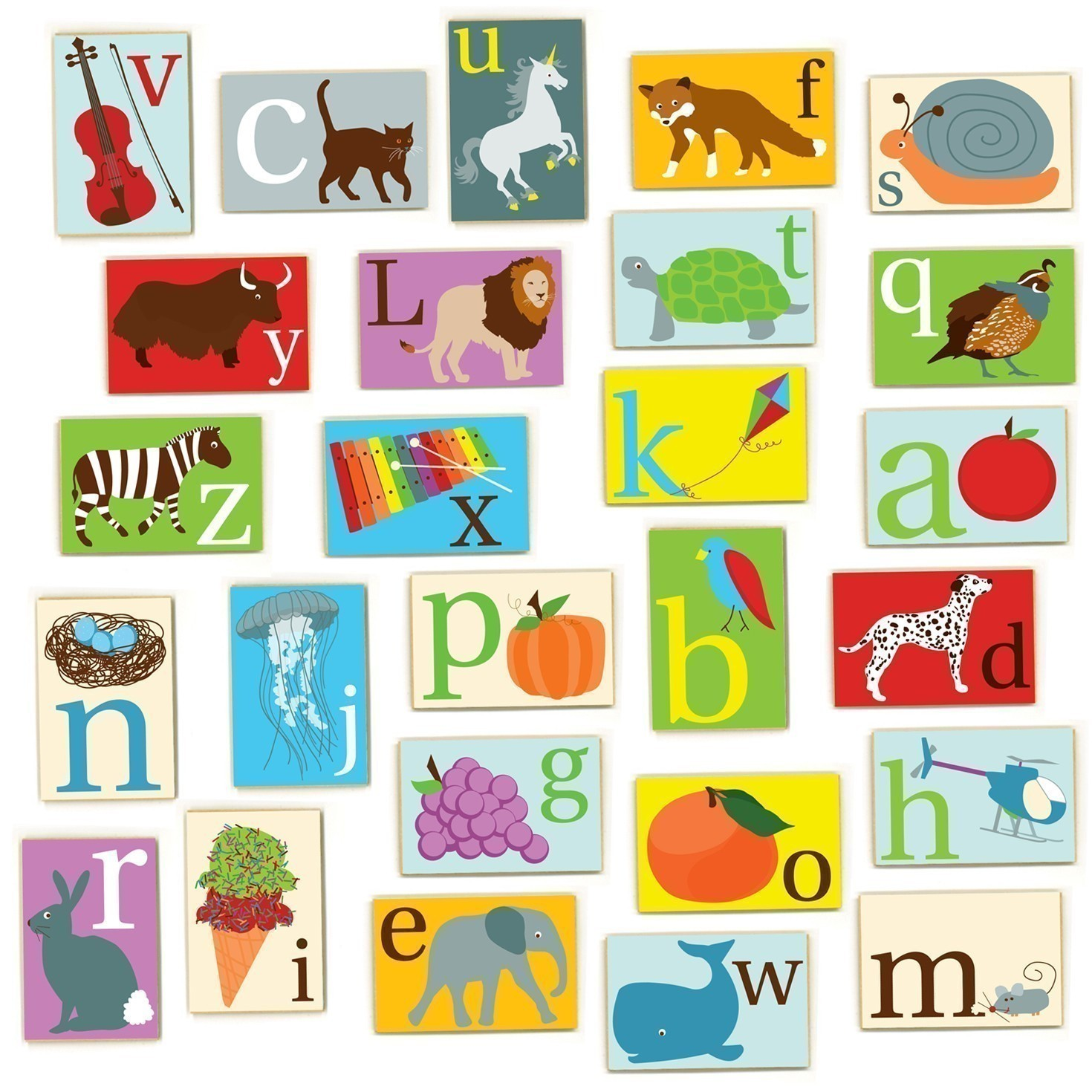 Alphabet Art Week: A-to-Z Alphabet Magnet Set