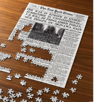 Best Holiday Gift for 2008: Today's NY Times cover as a puzzle