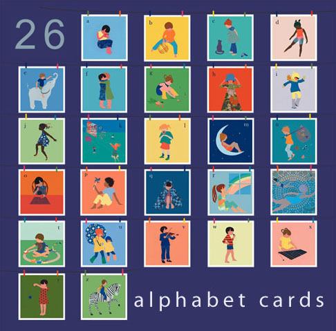 Alphabet Art Week: ABC Cards by Ida Pearle