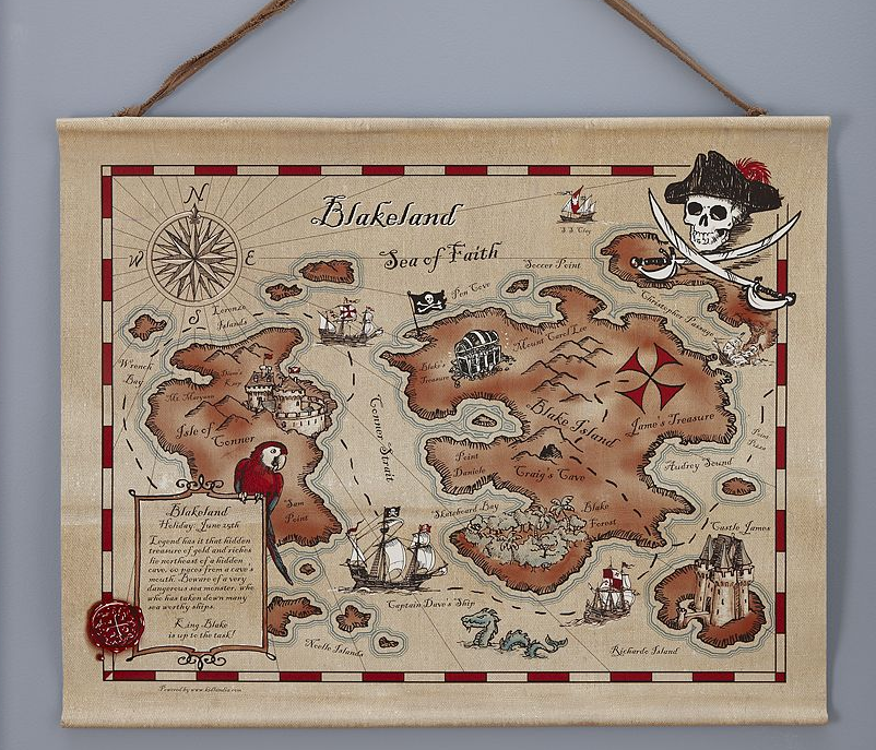 Kidlandia Maps at Pottery Barn