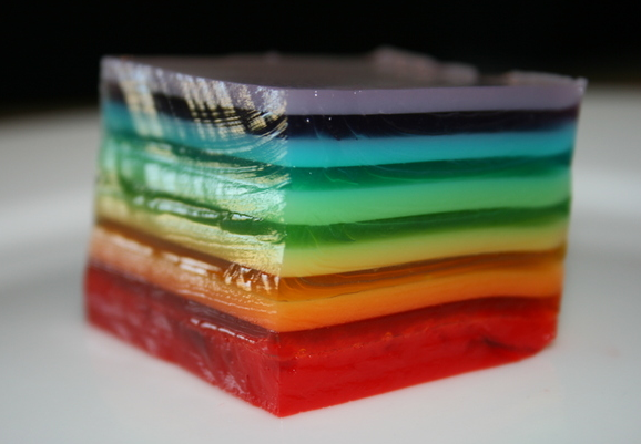 Jello Week: Rainbow Jello