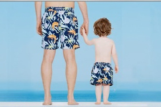 Father & Son Swim Trunks
