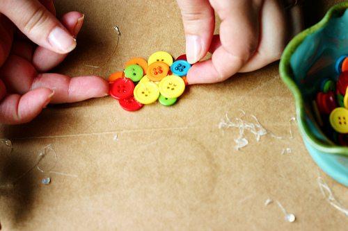 Kids Button Necklace Craft