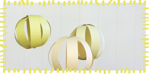 Here Comes The Sun! Paper Globes