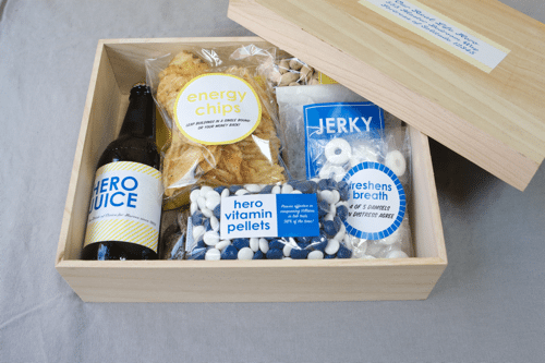 Superhero care package for Father's Day