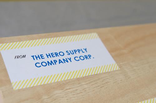 The Hero Supply Company Label (printable)